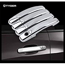 TYGER ABS Triple Chrome Plated Door Handle Cover 2014-2015 Chevy Silverado/GMC Sierra 1500 4 doors Without Passenger Keyhole Handle Cover