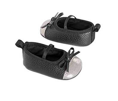 229d396d0 Amazon.com | Carter's Baby Girl Mary Jane Crib Shoes Black and Silver |  Shoes