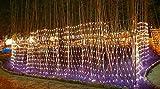 REDOI 868 LED 6 4 M Christmas Flash Network Fairy Series Lamp Wedding 8 Flash Mode Controller Waterproof Home (Warm White)