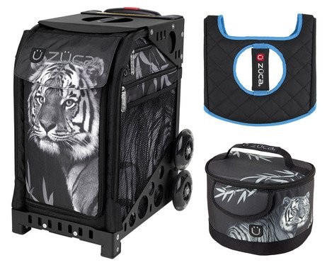 Zuca Sport Bag - Tiger with Lunchbox and Seat Cover (White)