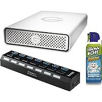 G-Technology G-DRIVE USB 3.0 6TB External Hard Drive (0G03674) Bundle