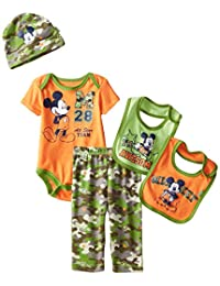 """Mickey Mouse Baby Boys' """"Camo All-Star"""" 5-Piece Layette Set"""