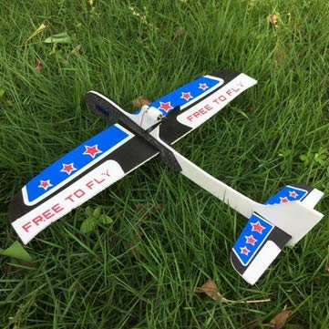 RC Toys Hobbies RC Airplane - PP+EPP 295mm Wingspan Super Electric Coreless  Throwing Free-Flying Glider RC Airplane - Blue+White -