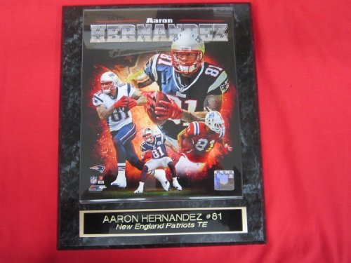 Aaron Hernandez New England Patriots Collector Plaque w/8x10 Photo