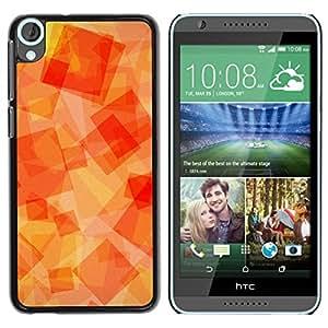Paccase / SLIM PC / Aliminium Casa Carcasa Funda Case Cover para - Orange Yellow Orange Sun Warm - HTC Desire 820
