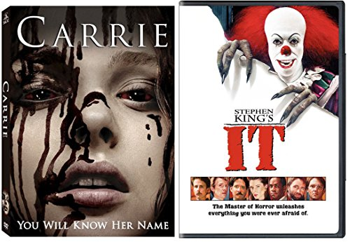 Stephen King's It + Carrie (2013) DVD Movie Double Feature Master of Horror & Suspense Possession & Fear