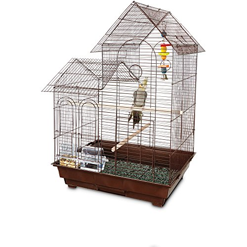 You & Me Cockatiel Ranch House Bird Cage, Brown by You&Me