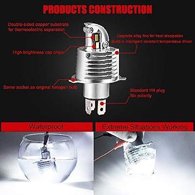 H4 LED Headlight Bulbs Hi/Lo Beam 9003 Bulb 10000 Lumens White 6000k CSP Chips LED Car Headlights H4 Headlamp 1:1 Design: Automotive