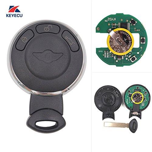 Keyecu Smart Remote Key Fob CAS System 3 Button 315LP ID46 for Mini Cooper 2007-2014