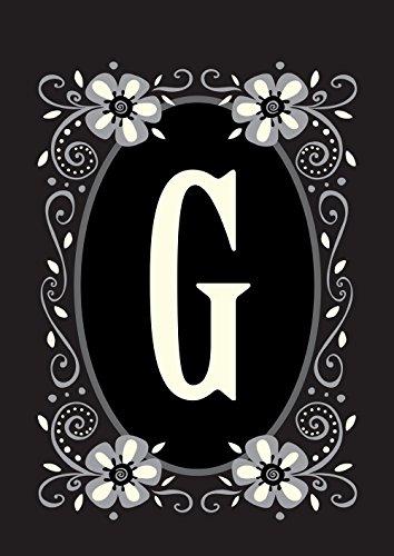 Toland Home Garden Classic Monogram G 12.5 x 18 Inch Decorative Flower Initial Garden Flag