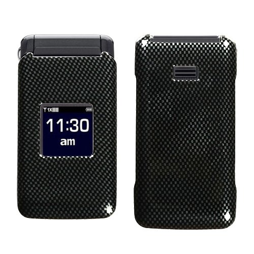 Hard Plastic Snap on Cover Fits Samsung U320 Haven Carbon Fiber Alltel, Cricket, US Cellular, Verizon (Please carefully check your device model to order the correct version.)