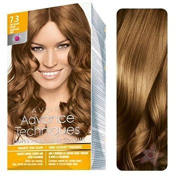 3 x Avon Advance Techniques Hair Colour / dye 7.3 Deep Golden Blond ...