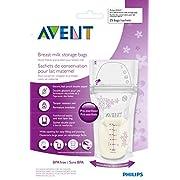 Avent Breast Milk Storage Bags - 6 oz - 50 ct, Size 6 oz