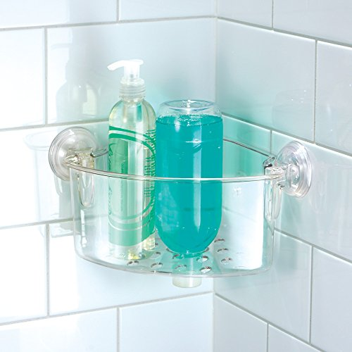 InterDesign Power Lock Suction Bathroom Shower Caddy Corner