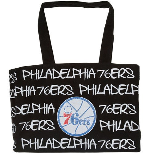 NBA Philadelphia 76ers Robin Ruth Ladies Medium Tote Bag - Black by Football Fanatics