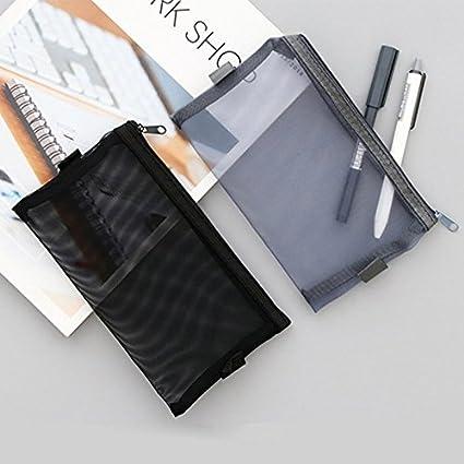 Estuche de malla transparente para bolígrafos, para oficina ...