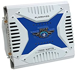 PYLE PLMRA420 4-Channel 1,000-Watt Waterproof Marine Bridgeable MOSFET Amplifier
