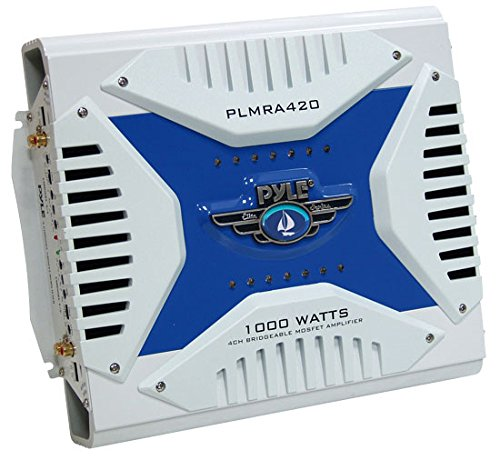 Pyle Plmra420 4-Channel 1000-Watt Waterproof Marine Bridgeable Mosfet Amplifier 2