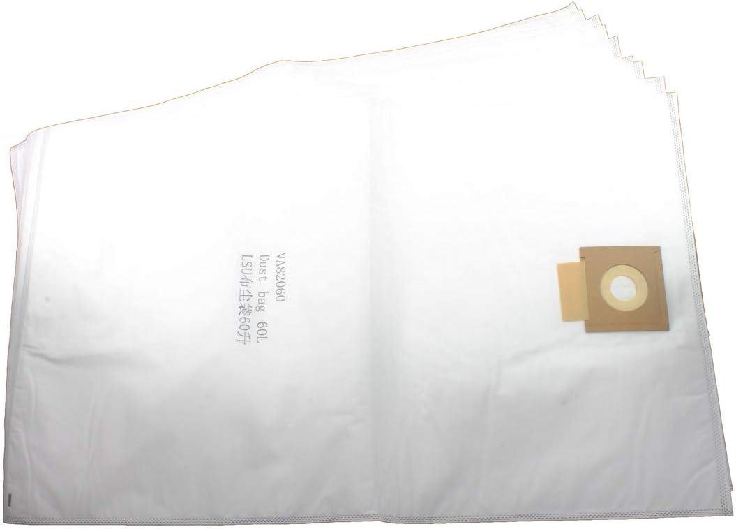 Viper (Nilfisk) VA82060-P10 HEPA SMS Microfibre Dust Bags 60 Litre (Pack of 10) for LSU275, LSU375 Series, White