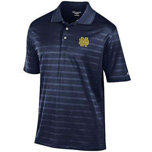 Elite Fan Shop Notre Dame Fighting Irish Navy Polo Shirt - M - Navy Blue (Shirt Notre Dame)
