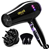 Hair Dryer with Diffuser, 1875W Lower Noise(75dB) Professional Blow Dryer with 2 Speed and 3 Heat Settings,Fast Drying Hair Dryer for Home/Travel