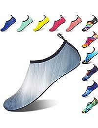 BIGU Water Shoes Mens Womens Beach Shoes Outdoor Swim Barefoot Quick-Dry Kids Aqua Socks Slip-On Pool Shoes