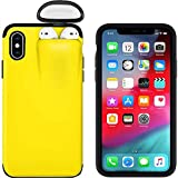 2 in 1 Case Compatible with iPhone 6 Plus and Airpods, Ultra Slim Liquid Silicone Gel Rubber Case Hard Shell Shockproof Protective Cover for iPhone 6 Plus with Wireless Headset Set Protection