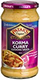 Patak's Korma Curry Cooking Sauce, Mild, 15-Ounce Glass Jars (Pack of 6)