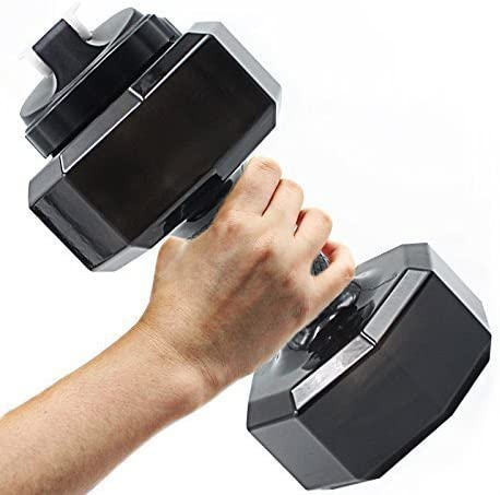 2.2L Dumbbell Shaped Gym Jug Sports Water Bottle Workout Fitness Exercise Men