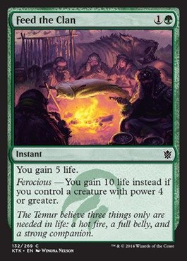 Magic: the Gathering - Feed the Clan (132/269) - Khans of Tarkir (Best Big Green Creatures Mtg)