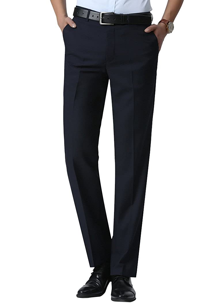 YFFUSHI Mens Formal Flat Front Slim Fit Suit Separate Pant