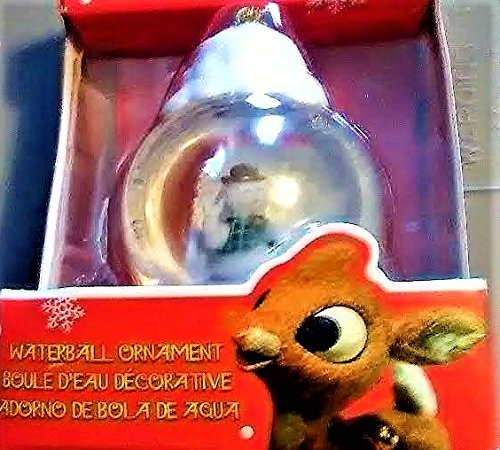 Rudolph The Red Nose Reindeer Waterball Ornament With