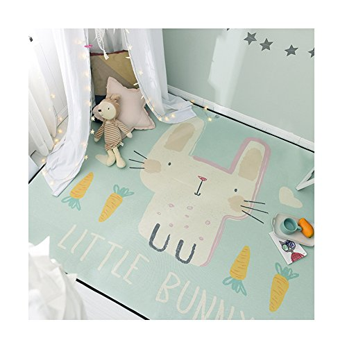 dream_home Baby Play Cartoon Polyester Mat - Rectangle Shape Anti-Skid Pads Absorbent Kids Carpet 59 x 77 Inch