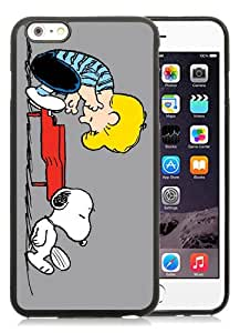 Genuine iPhone 6 Plus/6S Plus 5.5 inches Schroeder And Snoopy Black Screen TPU Phone Case Fashion and Luxury Design