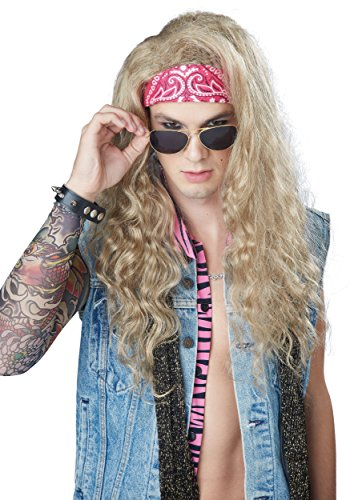 80's Hair Band Costume Women - California Costumes Men's Dude Looks Like a Lady Wig, Blonde, One Size