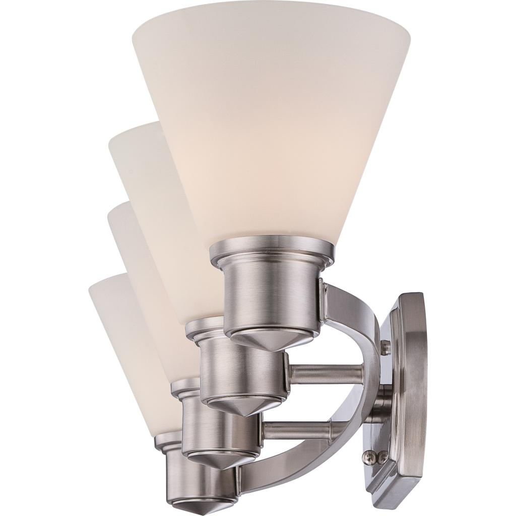 Quoizel ayr8604bn ayers with brushed nickel finish bath for Bathroom fixtures brushed nickel finish