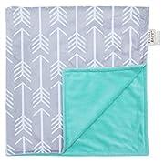 Towin Baby Arrow Minky Double Layer Receiving Blanket, Mint 30 x30  …