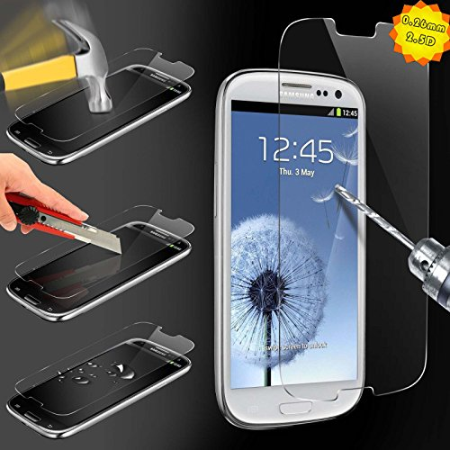 Tempered Glass for Samsung Galaxy S3 | S III | I9300, Case Army® Premium Ballistic Glass Screen Protector - Protect Your Screen from Scratches and Drops - 99.99% Clarity and Touchscreen Accuracy, Highest Quality Premium Anti-Scratch, Bubble-free, Reduce Fingerprint, No Rainbow, Washable Screen Protector and Easy to Install Product.