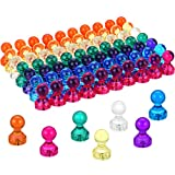 Zhanmai 70 Pieces Magnetic Push Pins Refrigerator Magnets for Whiteboard Fridge Classroom Office Home Using, 7 Colors