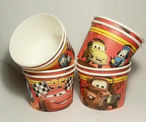 Disney Cars Grand Prix Birthday Party - Snack Cups - Mini Popcorn Box - Set of (Disney Cars Favor Boxes)