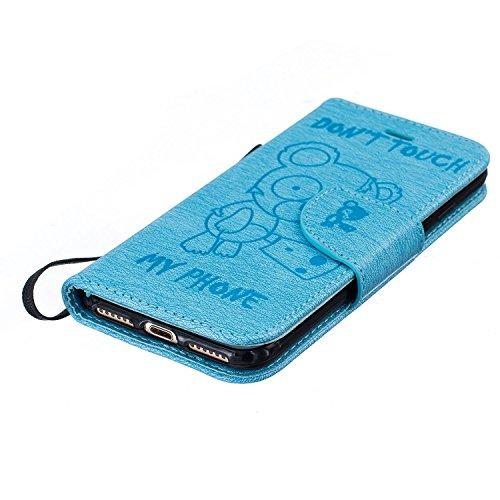 Für Apple iPhone 7 Plus (5,5 Zoll) Tasche ZeWoo® Ledertasche Kunstleder Brieftasche Hülle PU Leder Schutzhülle Case Cover - BF069 / Blauer Bär