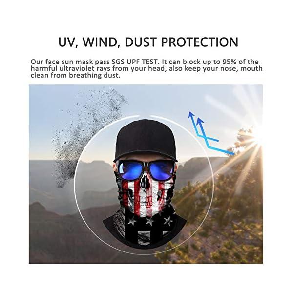 Balaclava Magic Scarf Neck Gaiter Motorcycling Great for Men /& Women Running Headwear 3D Face Sun Mask