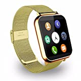 JIKRA Bluetooth Smart Wrist Phone Watch Compatible With high quality smart calling watch with all functions of smartphones compatible with Micromax Canvas Fantabulet