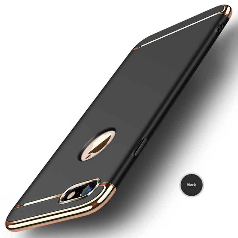 Misokoo Hard Iphone 8 plus Case, Iphone 8 plus cases Shockproof Luxury Ultra Thin Slim Case Protective Cover For iPhone 8 plus (Black for iphone 8 plus)