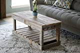 Natural Slatted Bottom Coffee Table