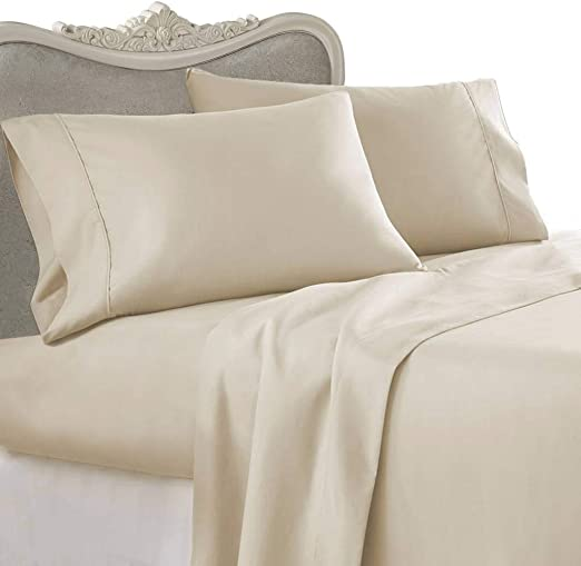 1000 TC Egyptian Cotton Extra Deep Pocket Bedding Item King Size Solid Colors