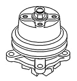 """15602-73030 Water Pump 4.5"""" Dia Made to fit Kubota Tractor Model M4000"""