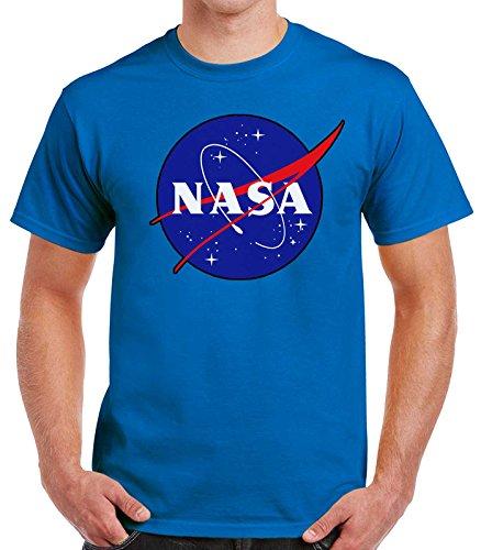 Old Nasa Camiseta School Hombre Retro Azul Logo 35mm qEXxadwE