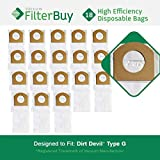 18 - FilterBuy Dirt Devil Type G Replacement Vacuum Bags, Part # 3010348001. Designed by FilterBuy to replace Dirt Devil Type G Vacuum Bags.