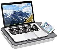 LapGear Mesa de colo SIDEKICK com suporte de telefone - cinza - serve para laptops de até 15,6 polegadas - est